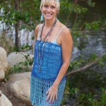 Blue lace Dress 1