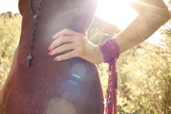 Silk Lurex Xamisole Dress