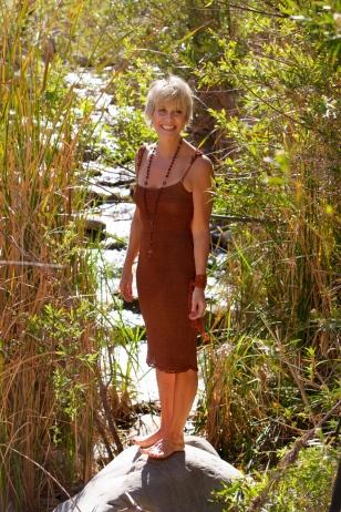 Silk Lurex Camisole Dress