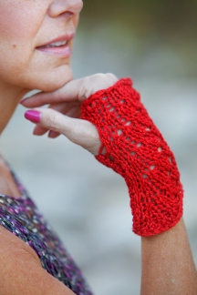 Red Lace Glove