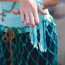 Turqoise Skirt Detail