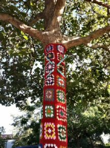 Tree with Knitting Needles