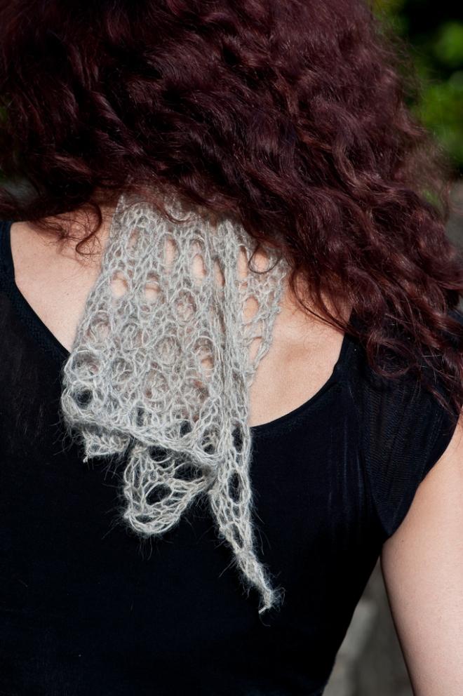 Baby Suri Alpaca Lace Scarf/Hairband