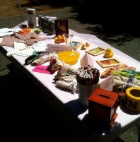 Washcloth Fundraiser Table