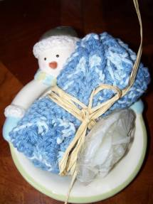 Snowman Washcloth