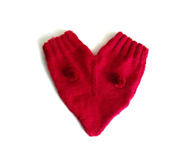 Heart Mitten for Two
