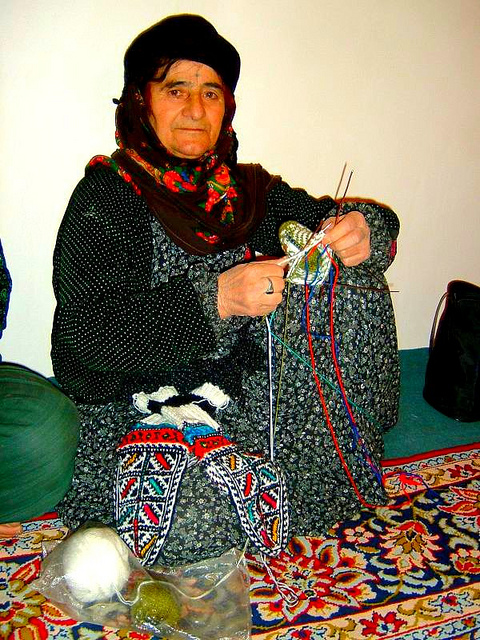 Armenian Woman Knitting