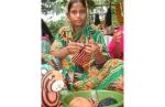 Indian Woman Knitting