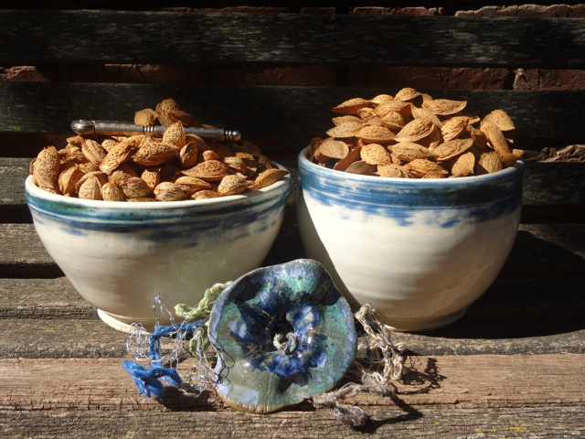 Almonds in Bowls
