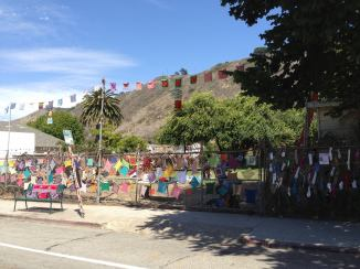 Ventura ArtWalk Fence and PrayerFlags