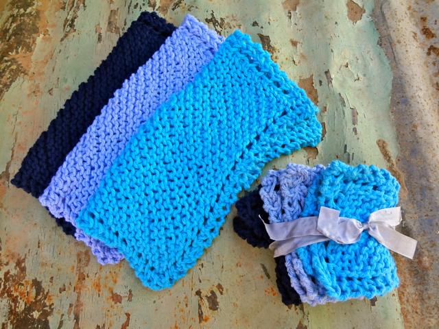Blue WashCloth Set