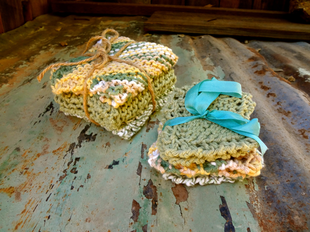 Green WashCloth Set 1
