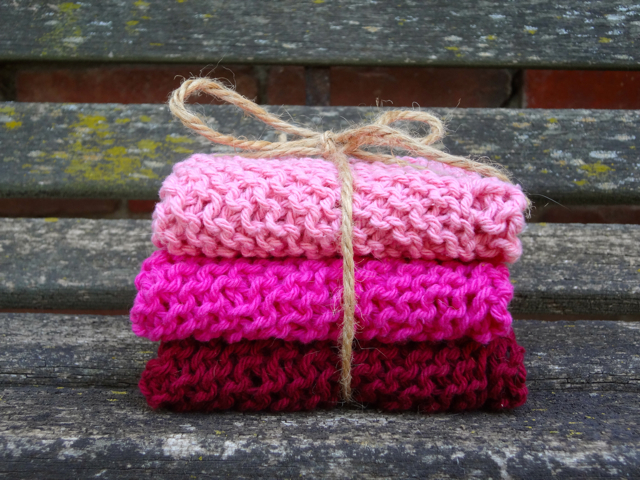 Raspberry WashCloth Set