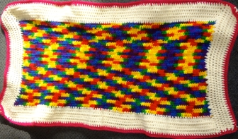Blue-Yellow-Red Blanket