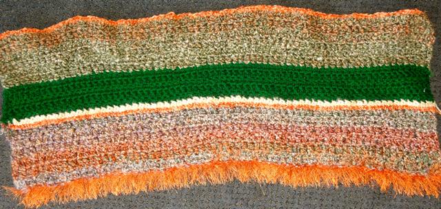 Orange-Green Blanket