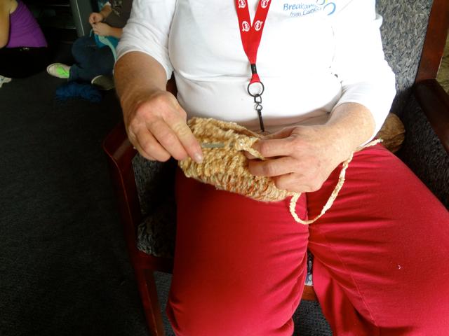 Women Crocheting