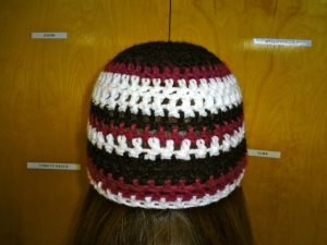 Red-White-Black Hat
