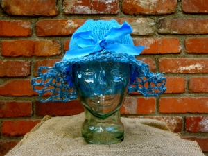 Blue Hat Bow front