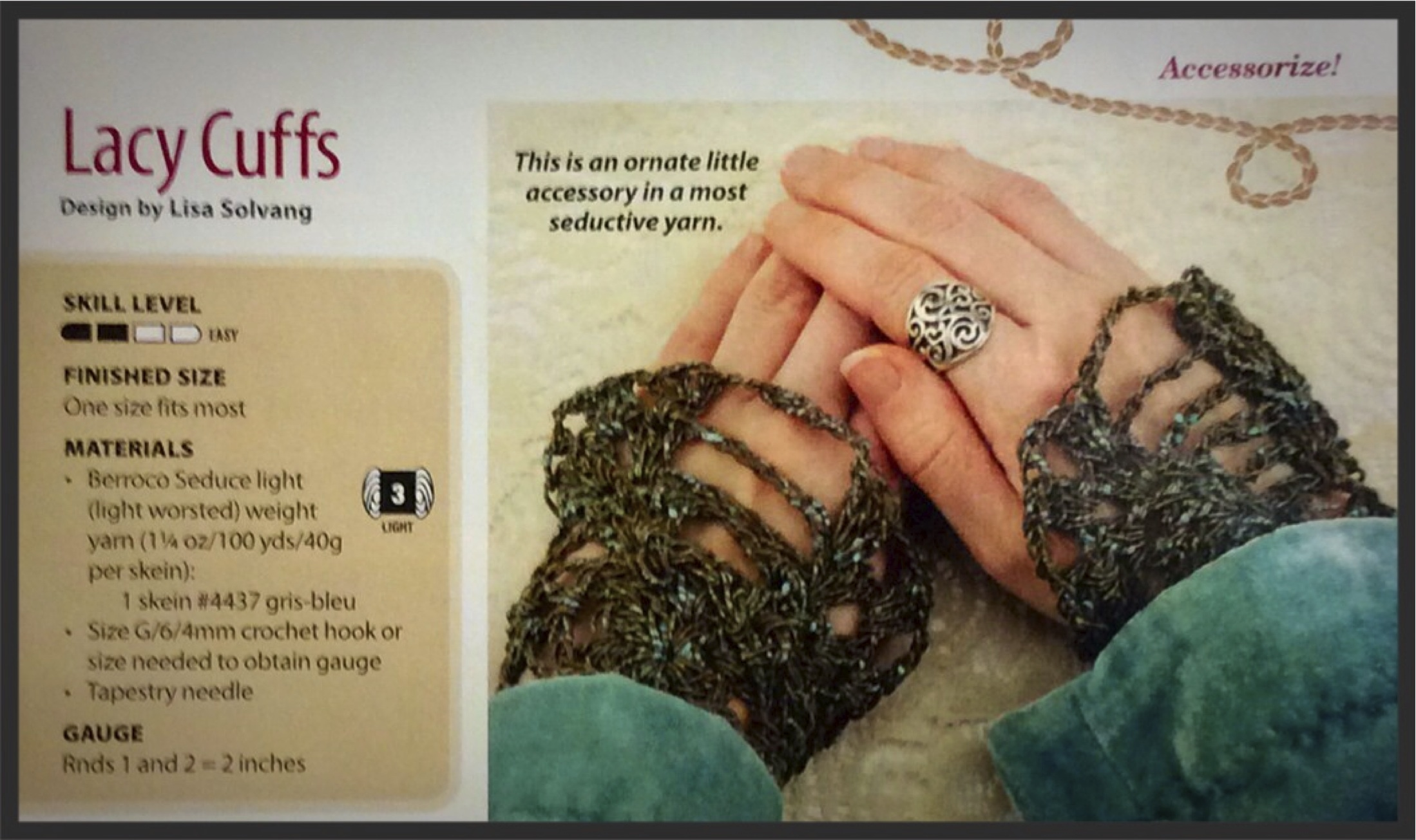 My first published pattern in Crochet World Magazine back in 2010 ...