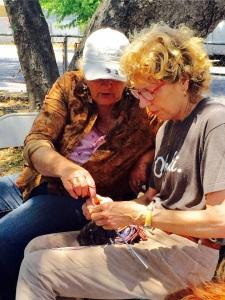 Karen teaching Eileen