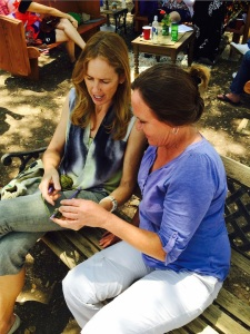 Melinda teaching Laura