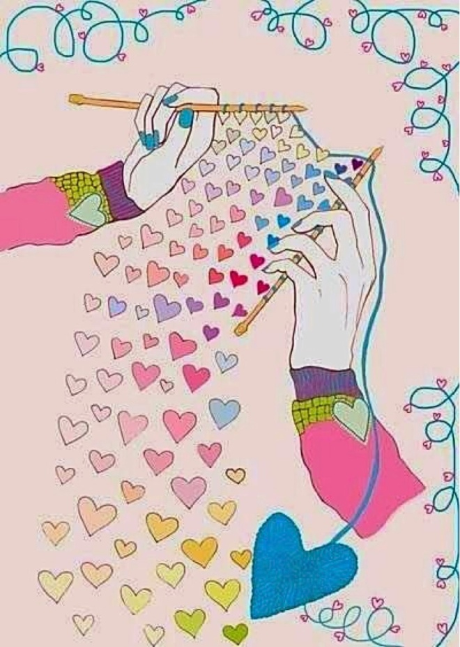 All You Knit is Love - Art