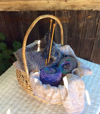 Gray Scarf Basket