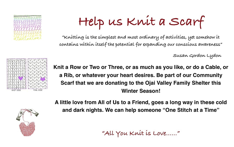 Knitting Club Flyer : Community scarf baskets ahandknitlife