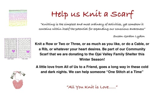 Knit a Scarf Flyer