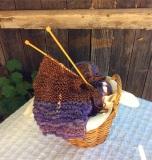 Purple Scarf Basket