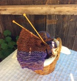 Purple Scarf Basket